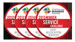 Kent - Winner of the Australian Business Awards for Service Excellence emblems