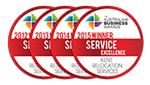 Kent - Winner of the Australian Business Awards for Service Excellence emblems